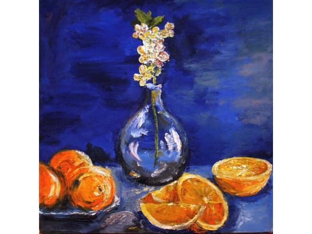 """Березина Вероника, """"Апельсины"""". 45х45 холст, масло 2015г."""