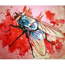 "Иван Юрков, ""Dung fly"". 100х120 холст, акрил 2013г."
