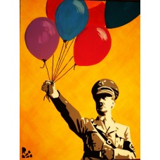 Иван Юрков. Адольф и шарики. Авторский плакат, 2012г.