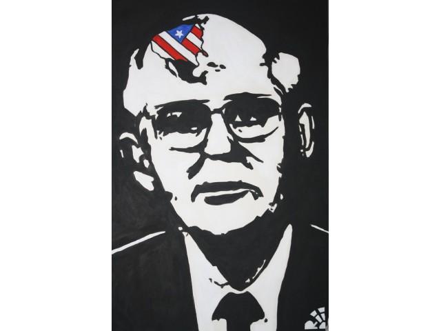 Иван Юрков. Призрак капитализма. 60х90 холст, акрил 2011г.