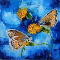 """Березина Вероника, """"Бабочки"""". 50х50 холст, масло 2017г."""